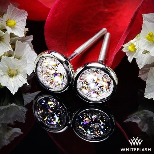 Handmade Full Bezel Diamond Earrings