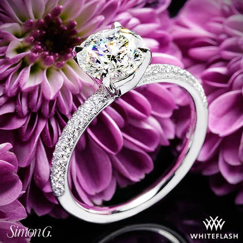 Simon G. LP1935-D Delicate Diamond Engagement Ring
