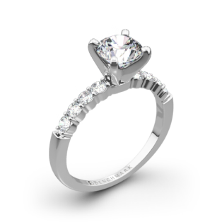 Benchmark SP4 Shared-Prong Diamond Engagement Ring