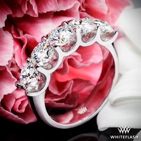 Skye Five Stone U Prong Diamond Right Hand Ring