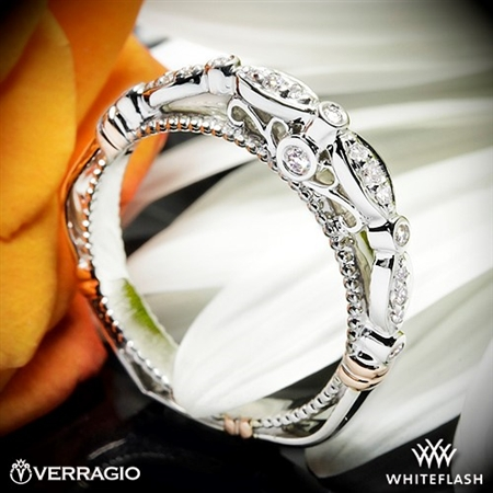 Verragio D-100W Scalloped Diamond Wedding Ring