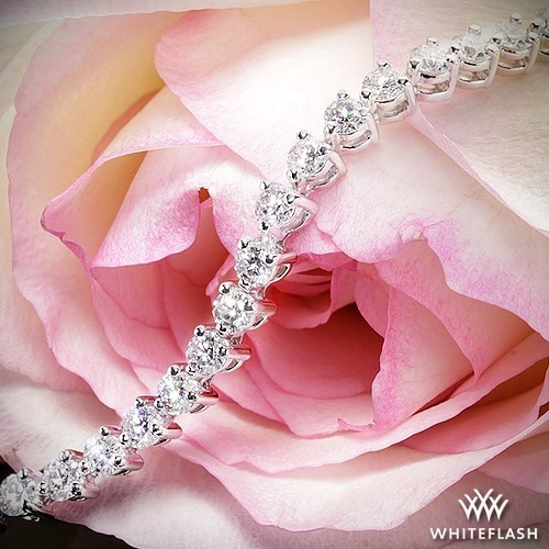 Three Prong Diamond Tennis Bracelet