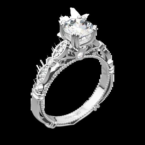 Verragio D-100 Scalloped Diamond Engagement Ring