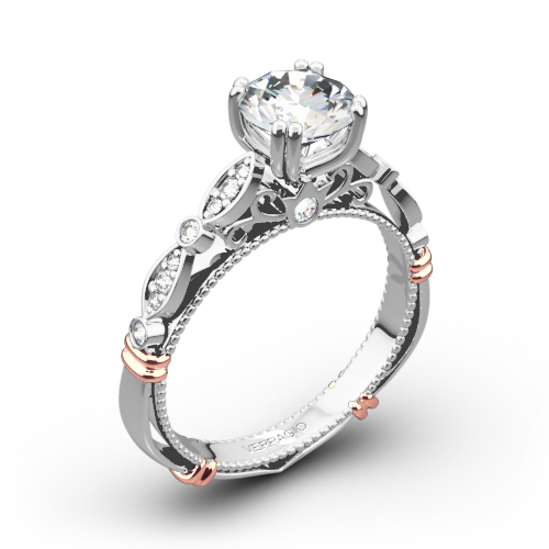 Verragio D-100 Scalloped Diamond Engagement Ring