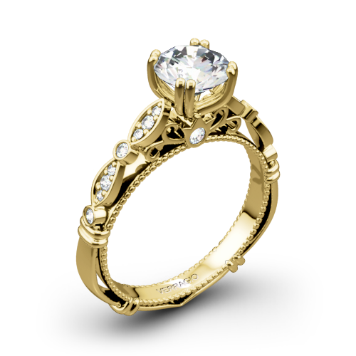 Verragio Parisian D-100 Scalloped Diamond Engagement Ring