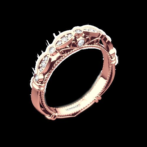 Verragio D-100W Scalloped Diamond Wedding Ring
