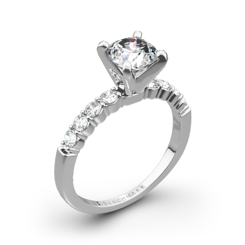 Benchmark CSPA4 Crescent Diamond Engagement Ring