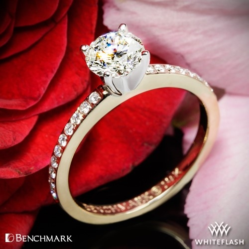 Benchmark LCPA1 Small Pave Diamond Engagement Ring