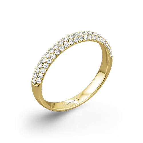 Simon G. TR431 Caviar Diamond Wedding Ring