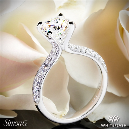 Simon G. TR431 Caviar Diamond Engagement Ring
