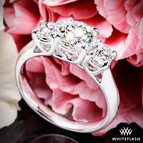 Trellis 3 Stone Engagement Ring