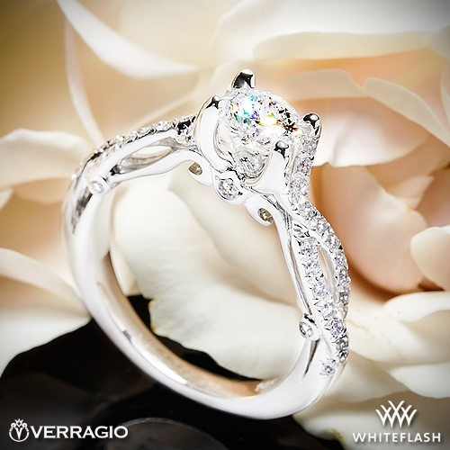 Verragio INS-7050R 4 Prong Twisted Shank Diamond Engagement Ring