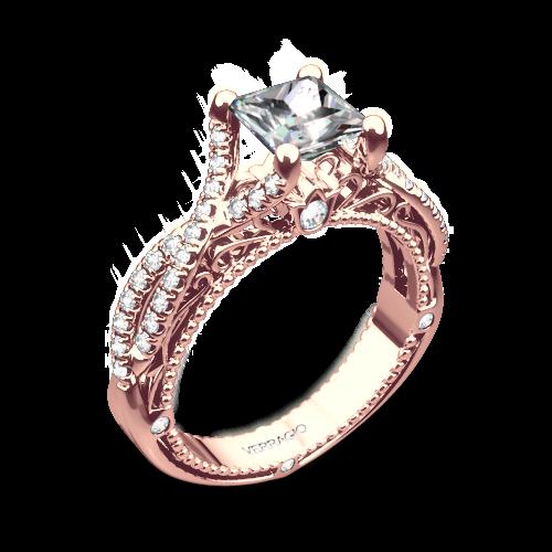 Verragio Afn 5003 2 Pave Twist Diamond Enement Ring For Princess