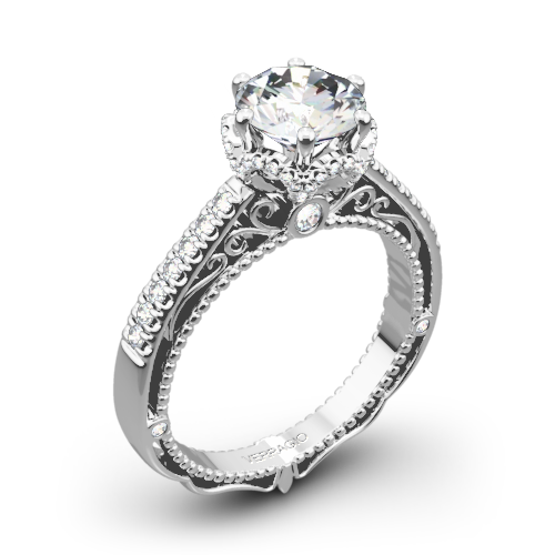 Verragio AFN-5052-4 6 Prong Crown Diamond Engagement Ring