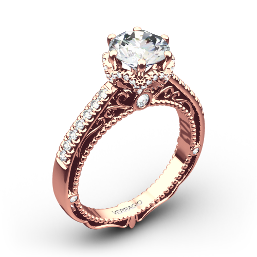 verragio afn 5052 4 6 prong crown diamond engagement ring - Crown Wedding Ring