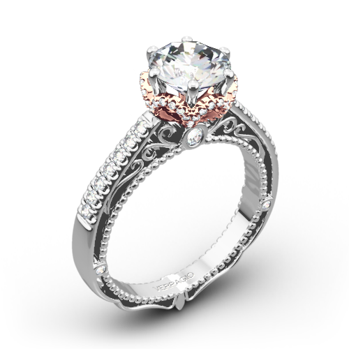 verragio afn 5052 4 6 prong crown diamond engagement ring - Crown Wedding Rings