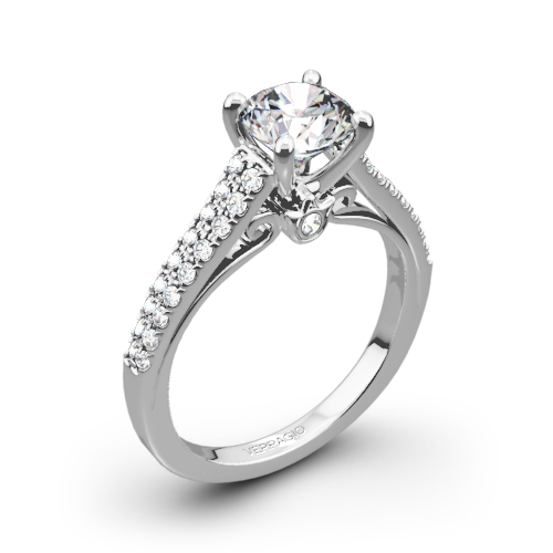Verragio ENG-0382R Double Pave Diamond Engagement Ring