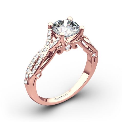 4 Prong Twisted Shank Diamond Engagement Ring by Verragio