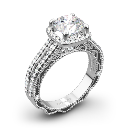 Verragio AFN-5007CU-4 Split Shank Pave Diamond Engagement Ring