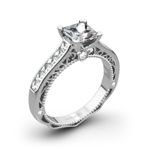 Verragio AFN-5029P-4 Channel-Set Diamond Engagement Ring for Princess