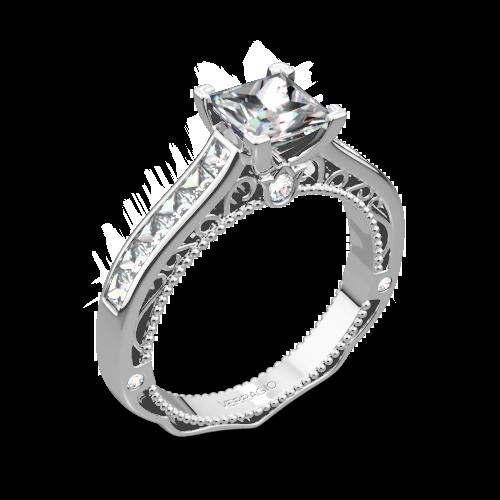 Verragio AFN-5029P-4 Channel-Set Diamond Engagement Ring for Princess