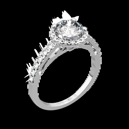 Verragio ENG-0386 Bead-Set Halo Diamond Engagement Ring