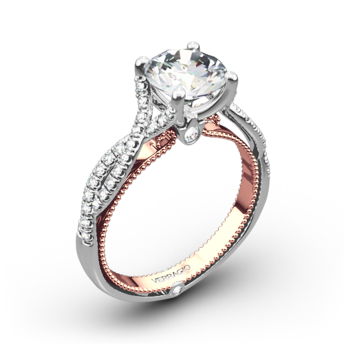 Verragio ENG-0421R-2T Twisted Two-Tone Diamond Engagement Ring