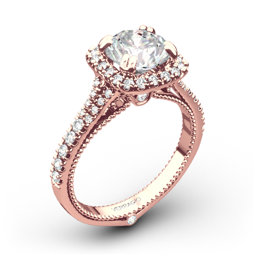 Verragio ENG-0424CU Split Claw Halo Diamond Engagement Ring
