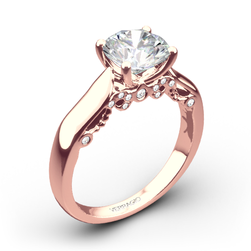 Verragio 4 Prong Knife Edge Solitaire Engagement Ring 1903
