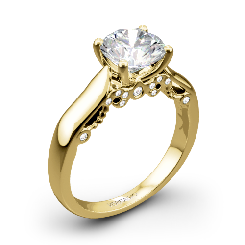 Verragio INS-7022 4 Prong Knife-Edge Solitaire Engagement Ring