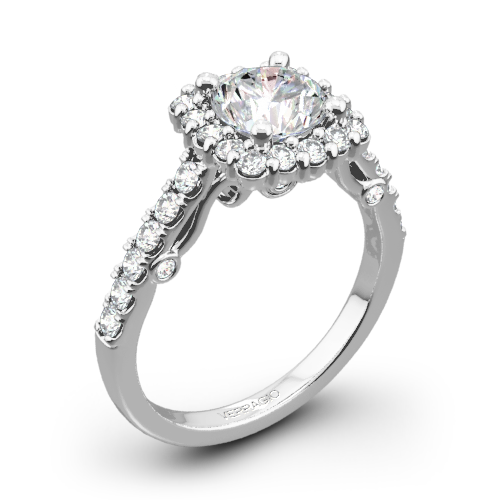 Verragio INS-7047 Cushion Halo Diamond Engagement Ring