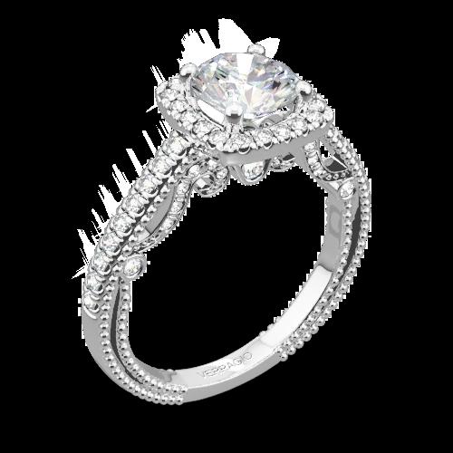 Verragio INS-7061CU Beaded Halo Diamond Engagement Ring