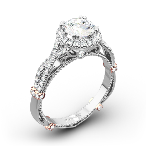 Verragio Braided Halo Diamond Engagement Ring 3153