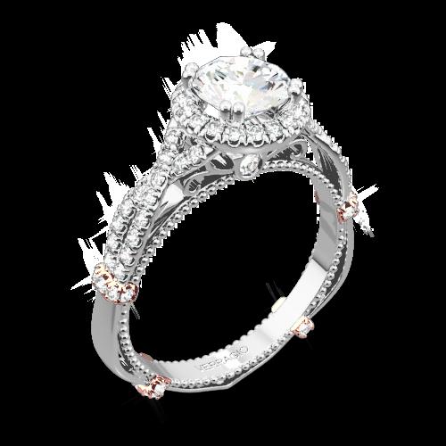 Verragio DL-106R Braided Halo Diamond Engagement Ring