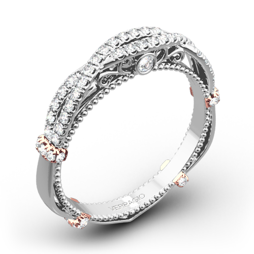 Verragio DL-106W Helix Diamond Wedding Ring
