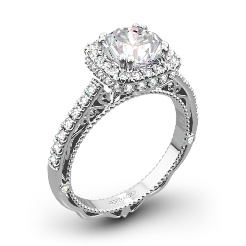 Verragio AFN-5053CU-4 Cushion Halo Bloom Diamond Engagement Ring
