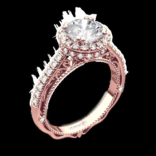 Verragio AFN-5053R-4 Round Halo Bloom Diamond Engagement Ring