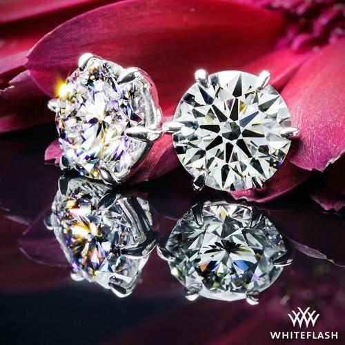 6 Prong Diamond Earrings