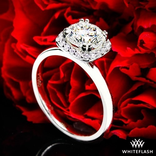 Guinevere Halo Solitaire Engagement Ring