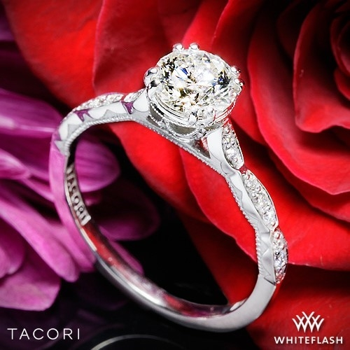 Tacori 57-2RD Sculpted Crescent Elevated Crown Diamond Engagement Ring