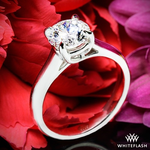 X-Prong Trellis Solitaire Engagement Ring