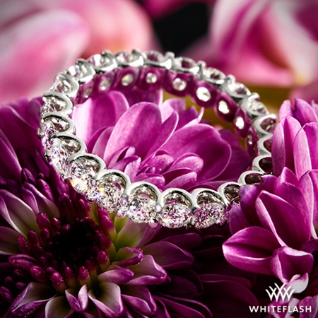 Annette's U-Prong Eternity Diamond Wedding Ring