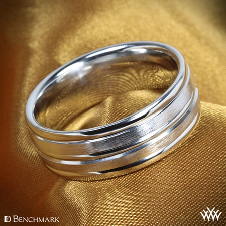 Benchmark Chorded Satin Wedding Ring