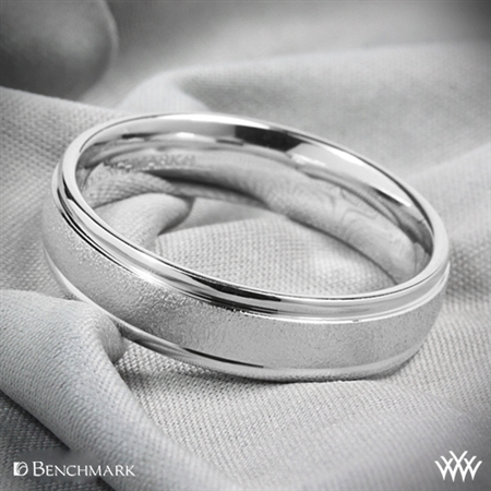 Benchmark Comfort Fit Wedding Ring with Wirebrush Finish