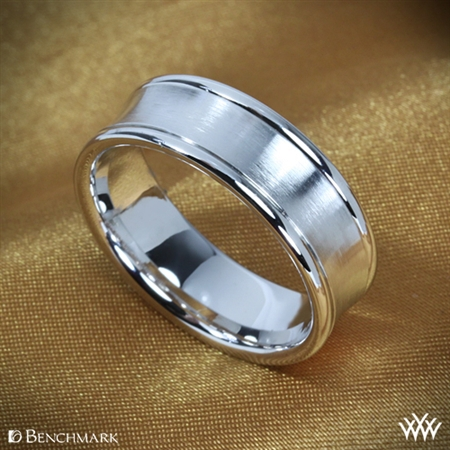 Benchmark Concave Satin Wedding Ring