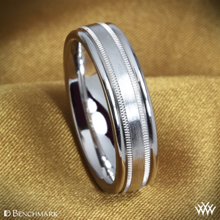 Benchmark Dual Milgrain Wedding Ring