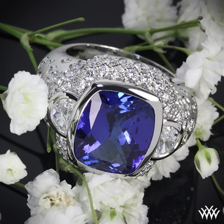 'Champagne' Diamond and Tanzanite Right Hand Ring