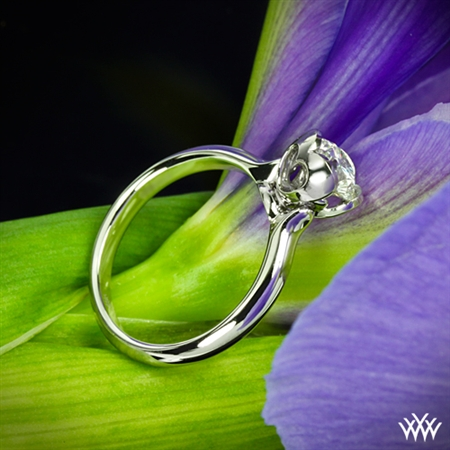 Corazon Half Round Solitaire Engagement Ring