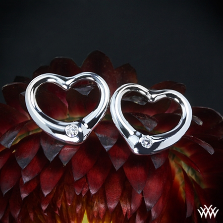 Essence Diamond Heart Earrings