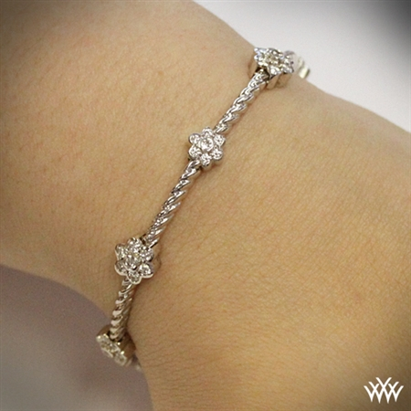 Flower Cluster Diamond Bangle